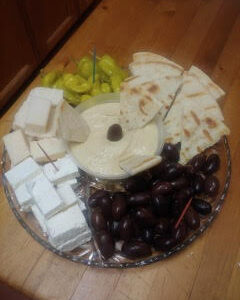 Cheese and Olive Appetizer Tray